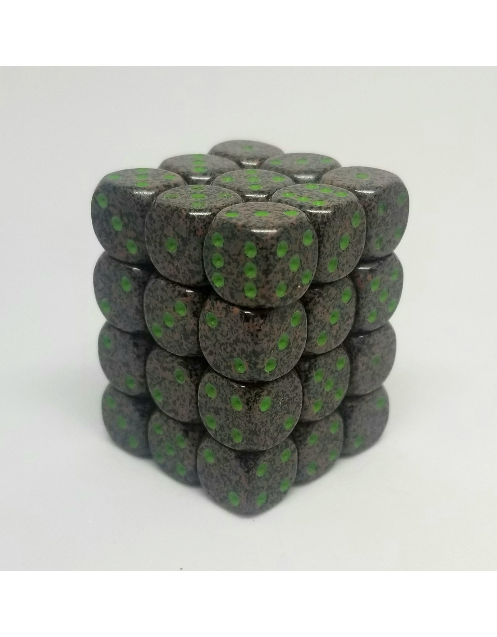 CHESSEX CHX 25910 12MM D6 DICE BLOCK SPECKLED EARTH