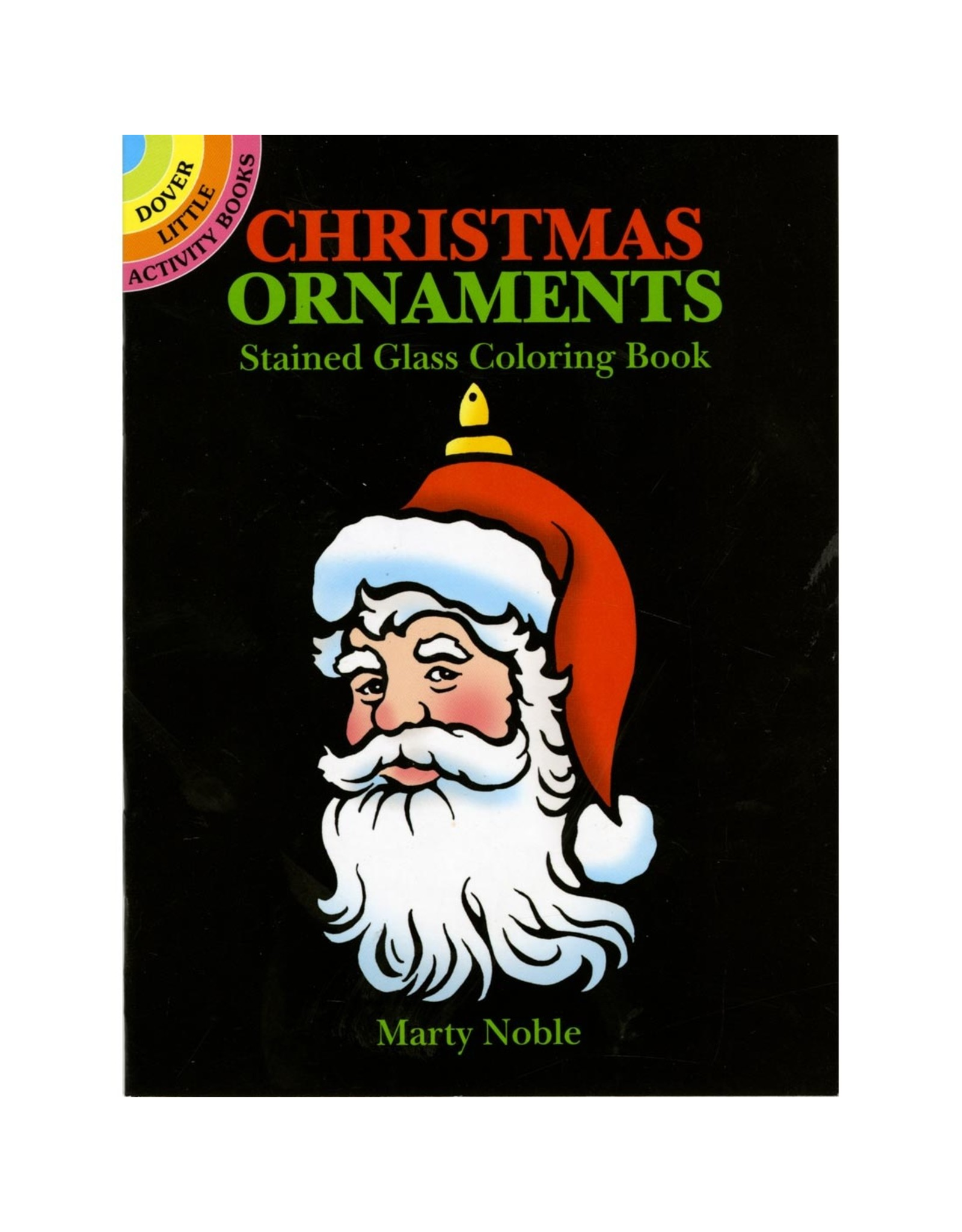 DOVER PUBLICATIONS CHRISTMAS ORNAMENTS STAINED GLASS COLORING BOOKS