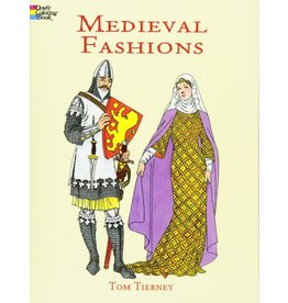 DOVER PUBLICATIONS MEDIEVAL FASHIONS COLORING BOOK