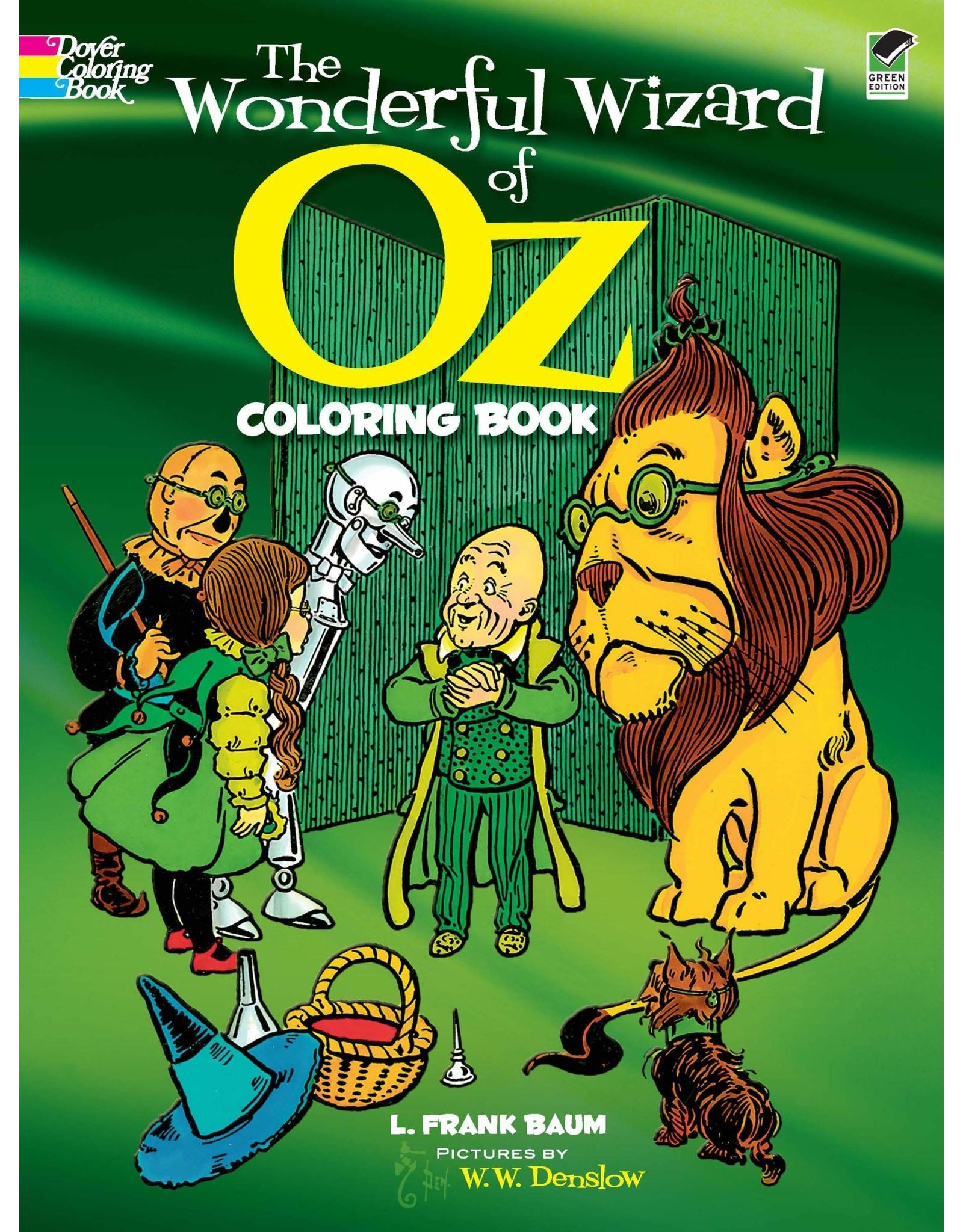 DOVER PUBLICATIONS THE WONDERFUL WIZARD OF OZ COLORING BOOK