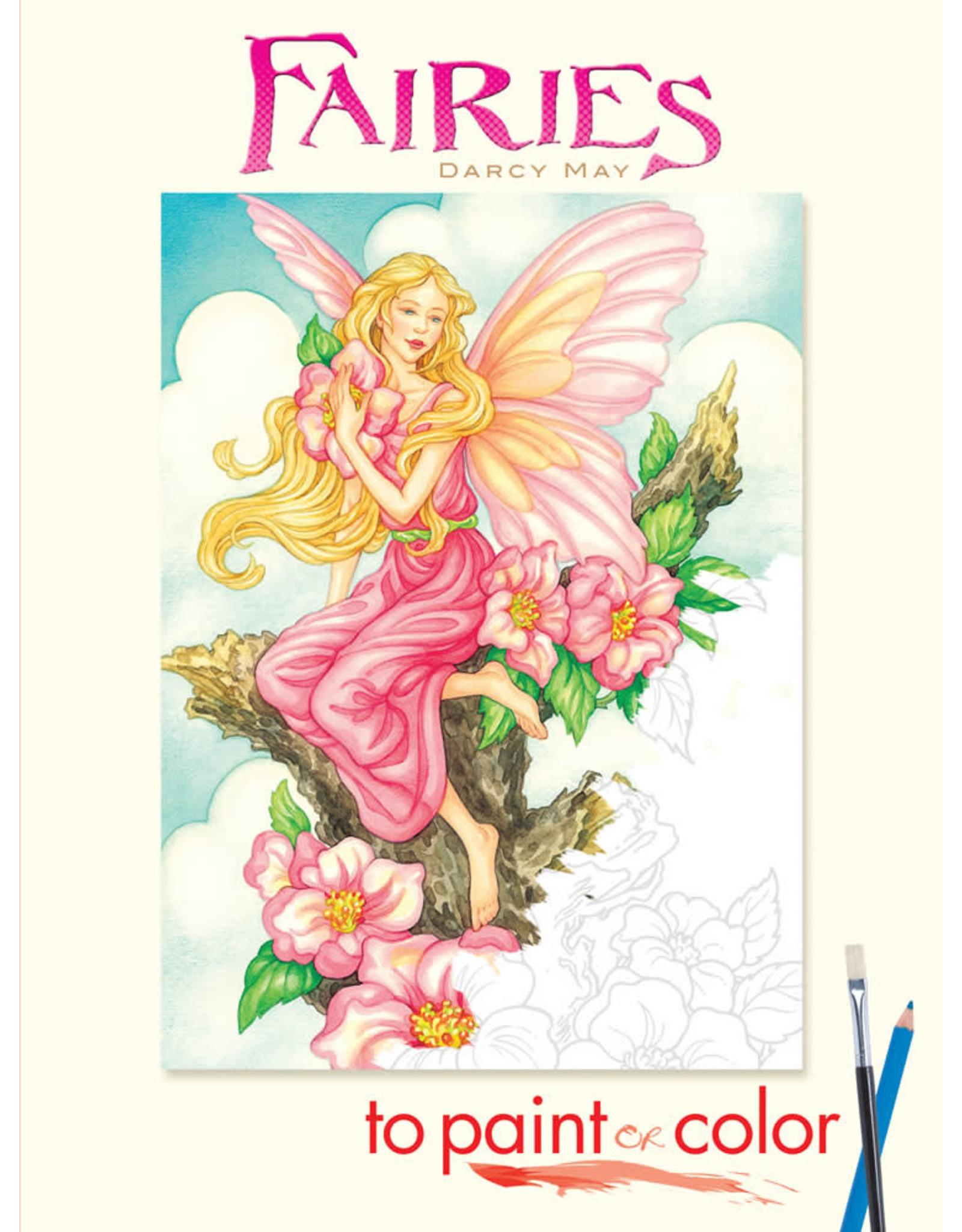 DOVER PUBLICATIONS FAIRIES TO PAINT OR COLOR