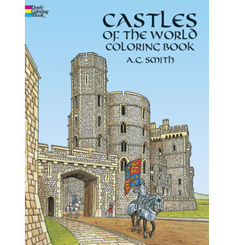 DOVER PUBLICATIONS CASTLES OF THE WORLD COLORING BOOK