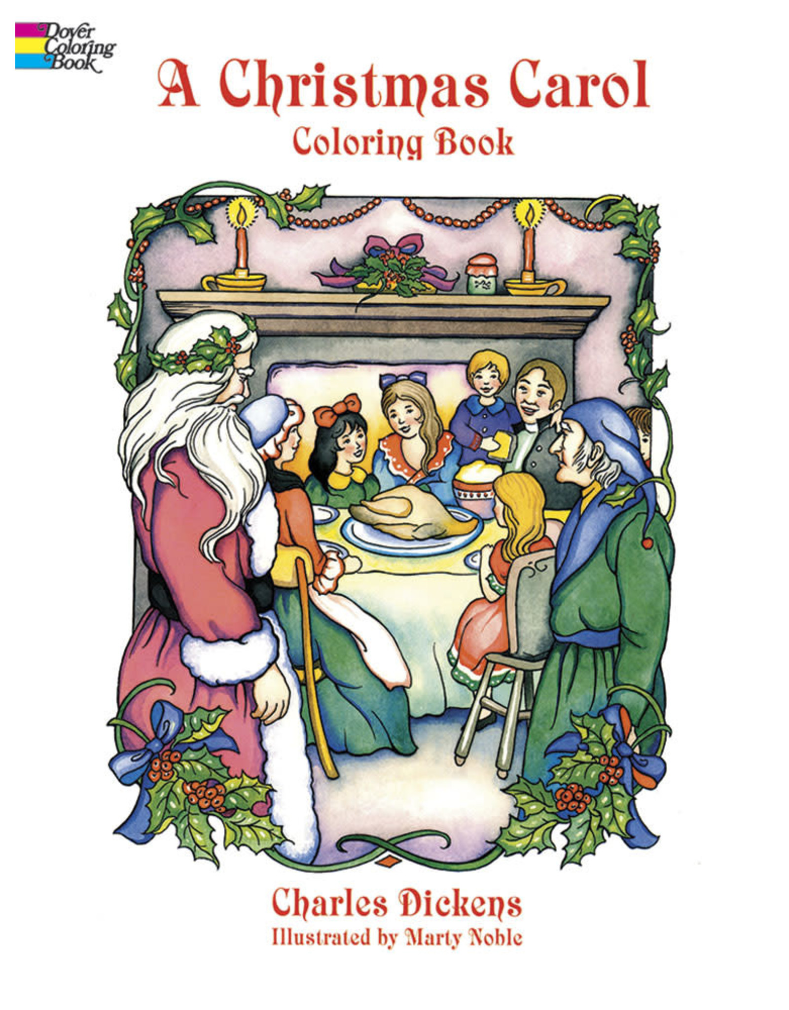 DOVER PUBLICATIONS A CHRISTMAS CAROL COLORING BOOK