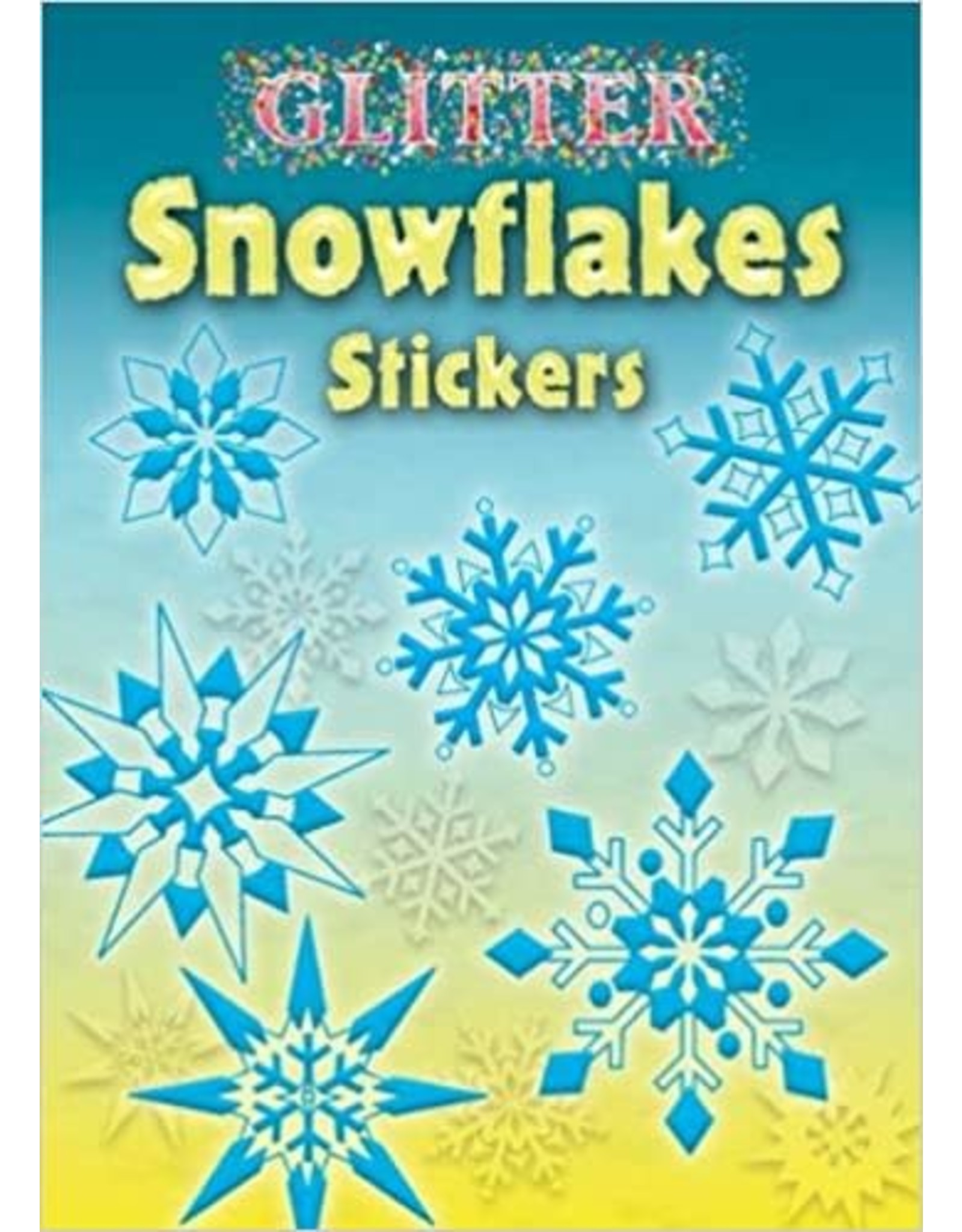 DOVER PUBLICATIONS GLITTER SNOWFLAKES STICKERS