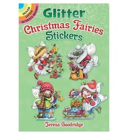DOVER PUBLICATIONS GLITTER CHRISTMAS FAIRIES STICKERS