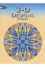 DOVER PUBLICATIONS 3-D DESIGNS COLORING BOOK