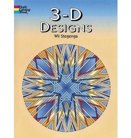 DOVER PUBLICATIONS 3-D DESIGNS COLORING BOOK