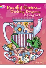 DOVER PUBLICATIONS FANCIFUL FAIRIES AND DAZZLING DRAGONS COLORING BOOK