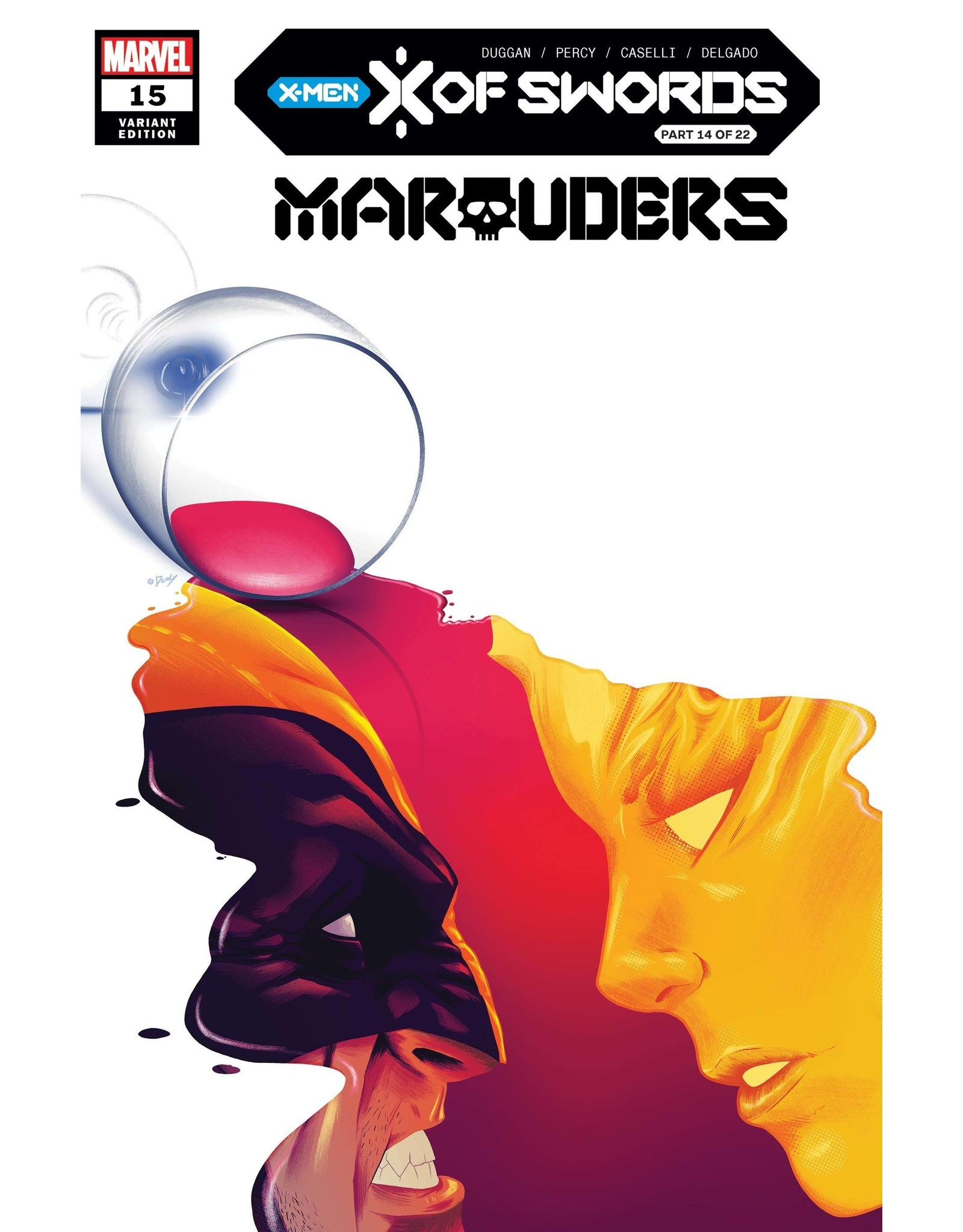MARVEL COMICS MARAUDERS #15 DOALY VAR XOS