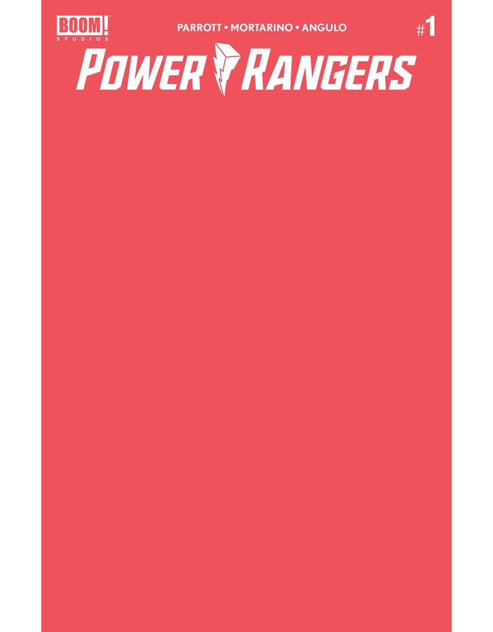BOOM! STUDIOS POWER RANGERS #1 CVR D BLANK SKETCH VAR