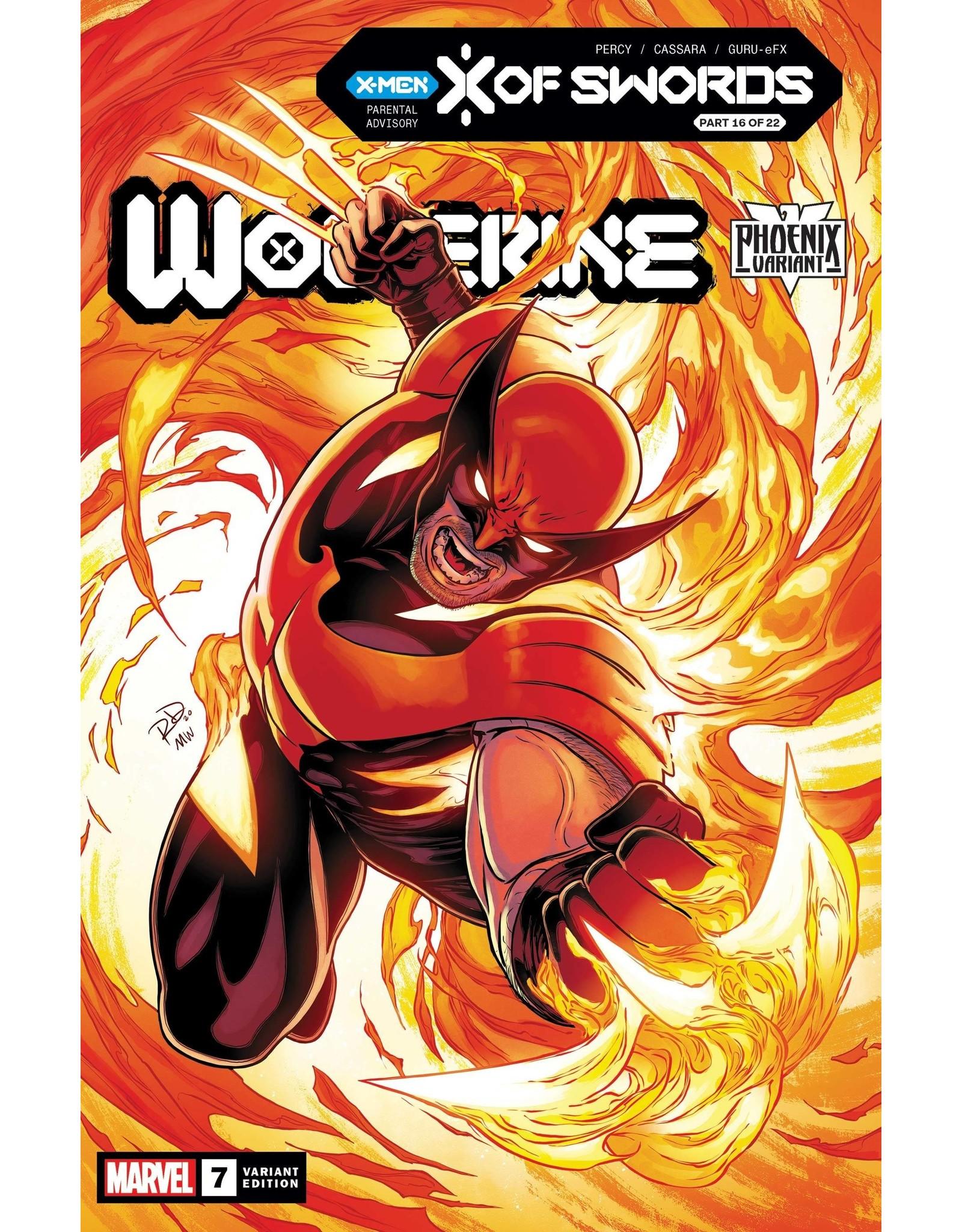 MARVEL COMICS WOLVERINE #7 DAUTERMAN WOLVERINE PHOENIX VAR XOS