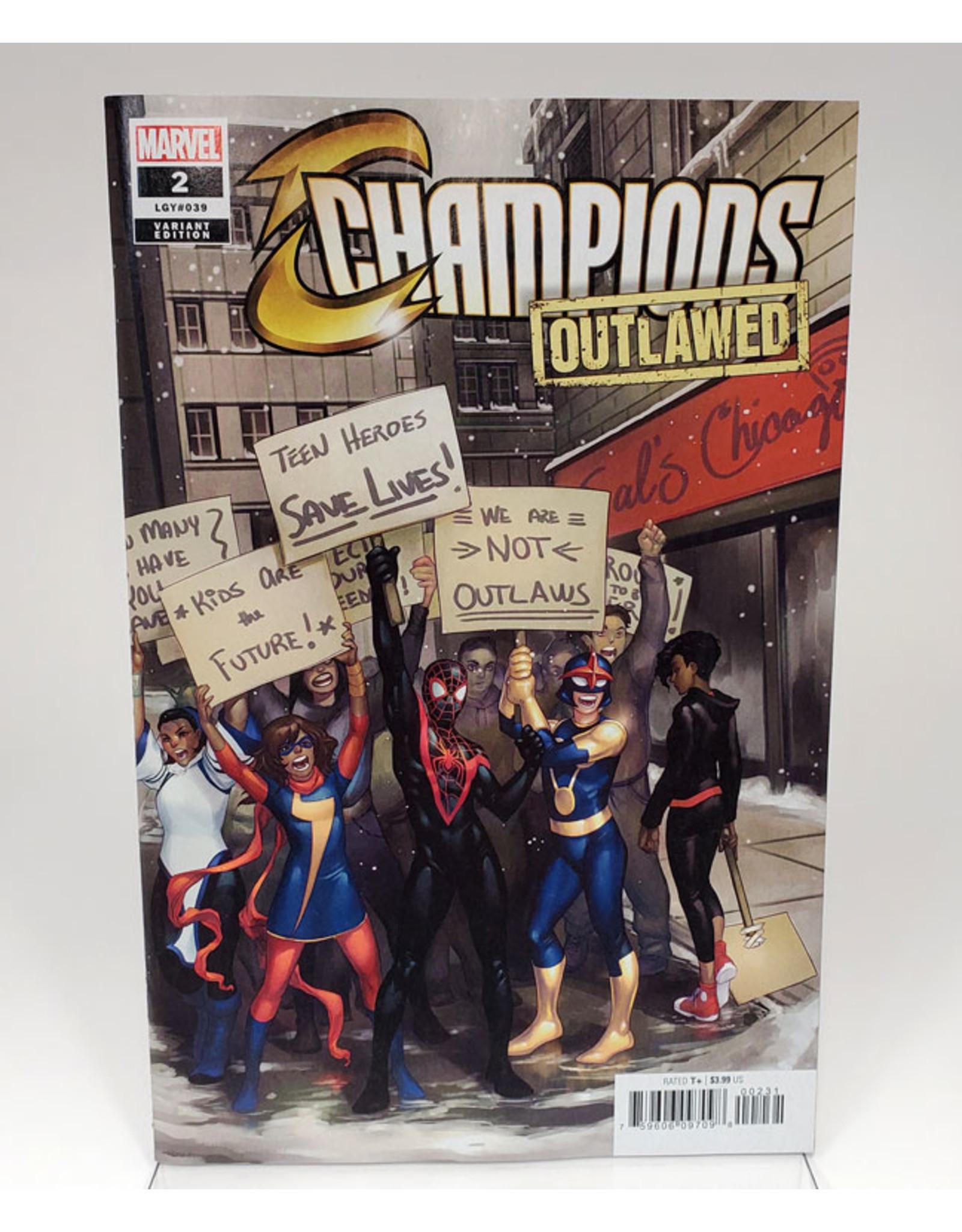 MARVEL COMICS CHAMPIONS #2 1:25 HETRICK VAR