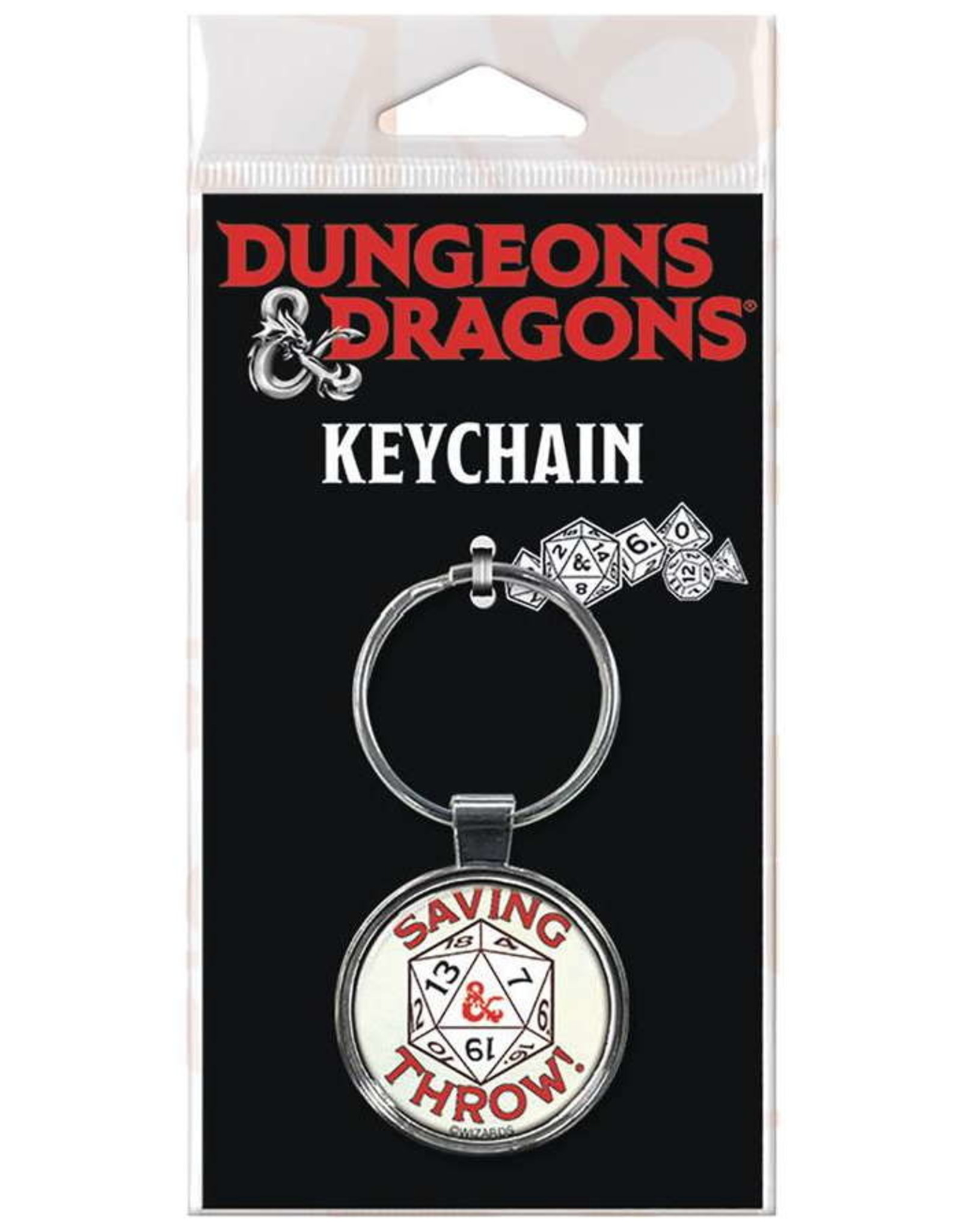 DUNGEONS & DRAGONS KEYCHAIN SAVING THROW