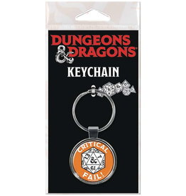 DUNGEONS & DRAGONS KEYCHAIN CRITICAL FAIL