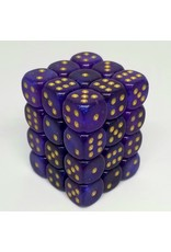 CHX 27987 12MM D6 BOREALIS ROYAL PURPLE/GOLD LUMINARY DICE