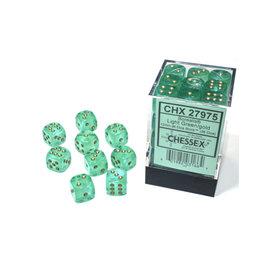 CHX 27975 12MM D6 BOREALIS LIGHT GREEN/GOLD LUMINARY DICE