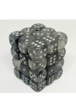 CHX 27978 12MM D6 BOREALIS LIGHT SMOKE/SILVER LUMINARY DICE