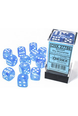 CHX 27786 16MM D6 BOREALIS SKY BLUE/WHITE LUMINARY DICE
