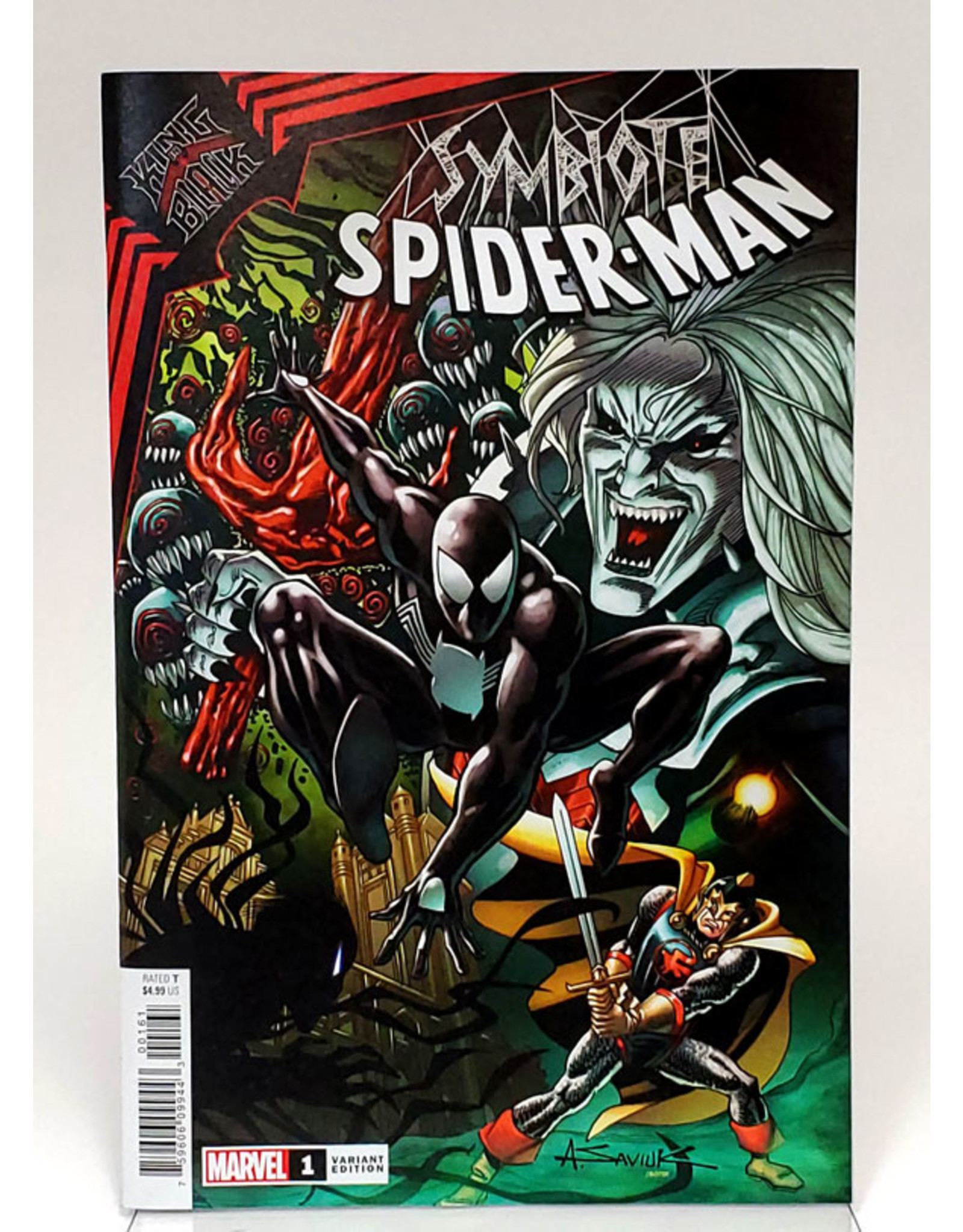 MARVEL COMICS SYMBIOTE SPIDER-MAN KING IN BLACK #1 1:25 SAVIUK VARIANT