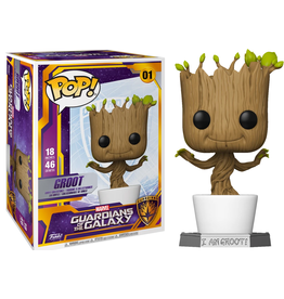 "FUNKO POP GUARDIANS OF THE GALAXY DANCING GROOT  18"" VINYL FIG"