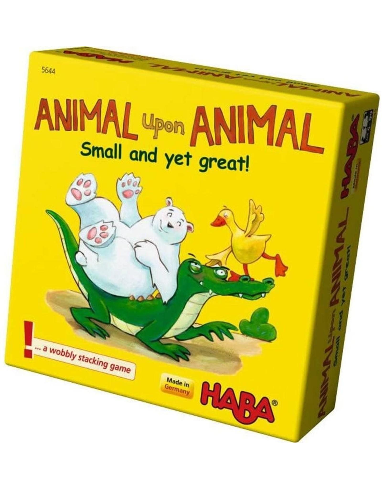HABA GAMES ANIMAL UPON ANIMAL SMALL BUT GREAT
