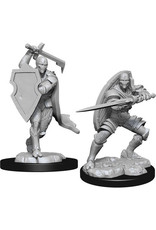 WIZKIDS D&D NOLZUR'S MARVELOUS MALE WARFORGED FIGHTER UNPAINTED MINI W13