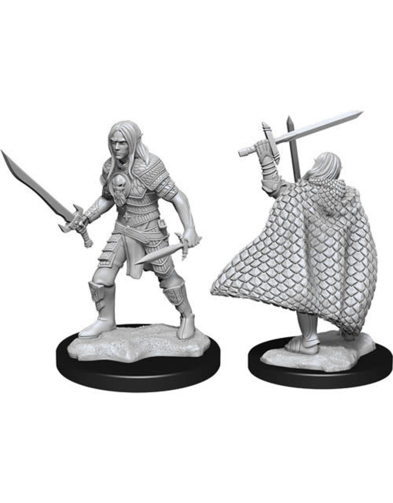 WIZKIDS DEEP CUTS UNPAINTED MINIS MALE ELF FIGHTER W13