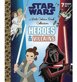 Penguin Random House STAR WARS HEROES & VILLAINS LITTLE GOLDEN BOOK
