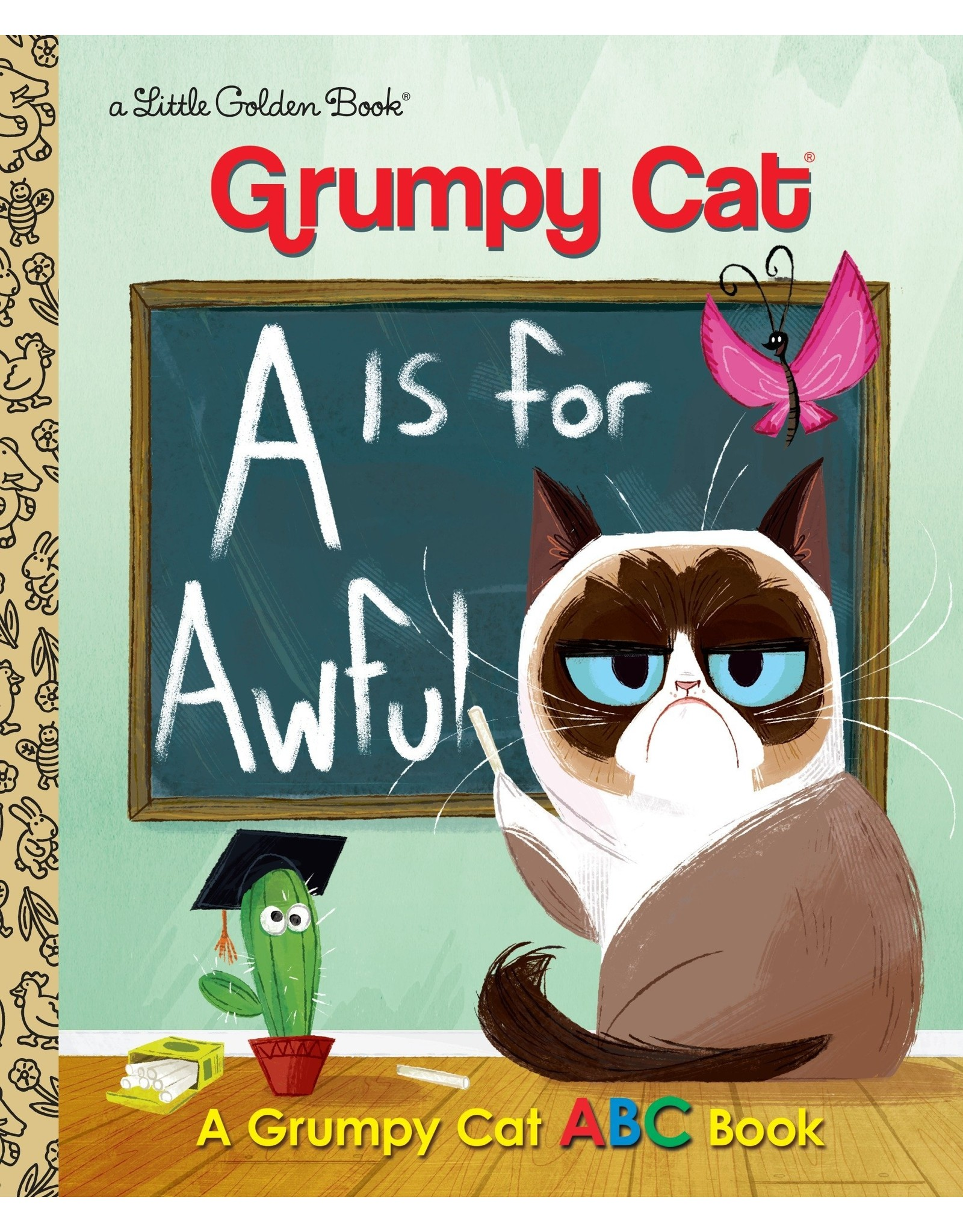 GOLDEN BOOKS A IS FOR AWFUL GRUMPY CAT ABC LITTLE GOLDEN BOOK