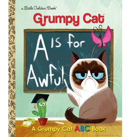 GOLDEN BOOKS GRUMPY CAT A IS FOR AWFUL LITTLE GOLDEN BOOK