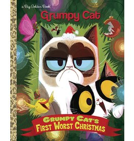 Penguin Random House GRUMPY CAT FIRST WORST CHRISTMAS LITTLE GOLDEN BOOK