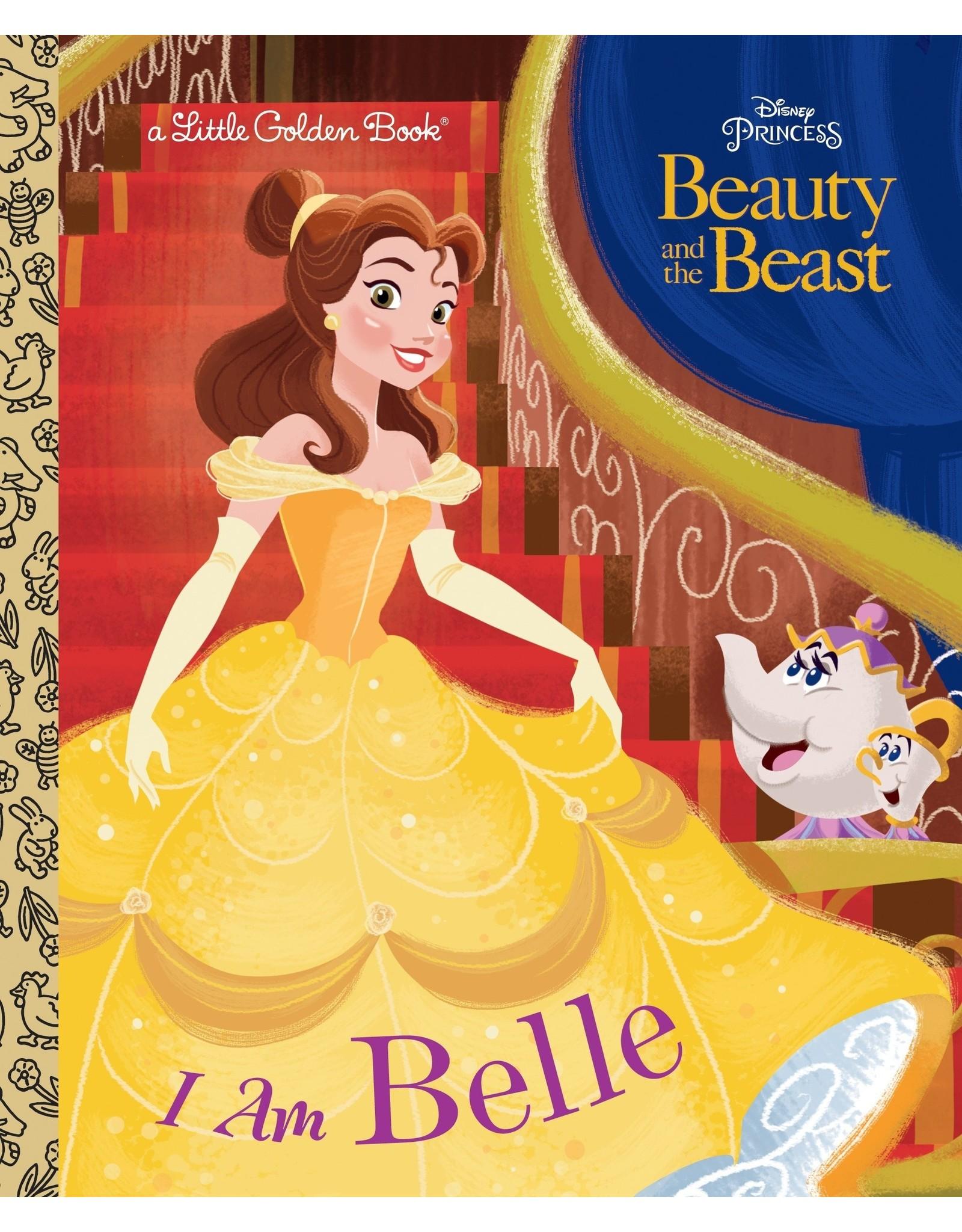 DISNEY BEAUTY AND THE BEAST I AM BELLE LITTLE GOLDEN BOOK