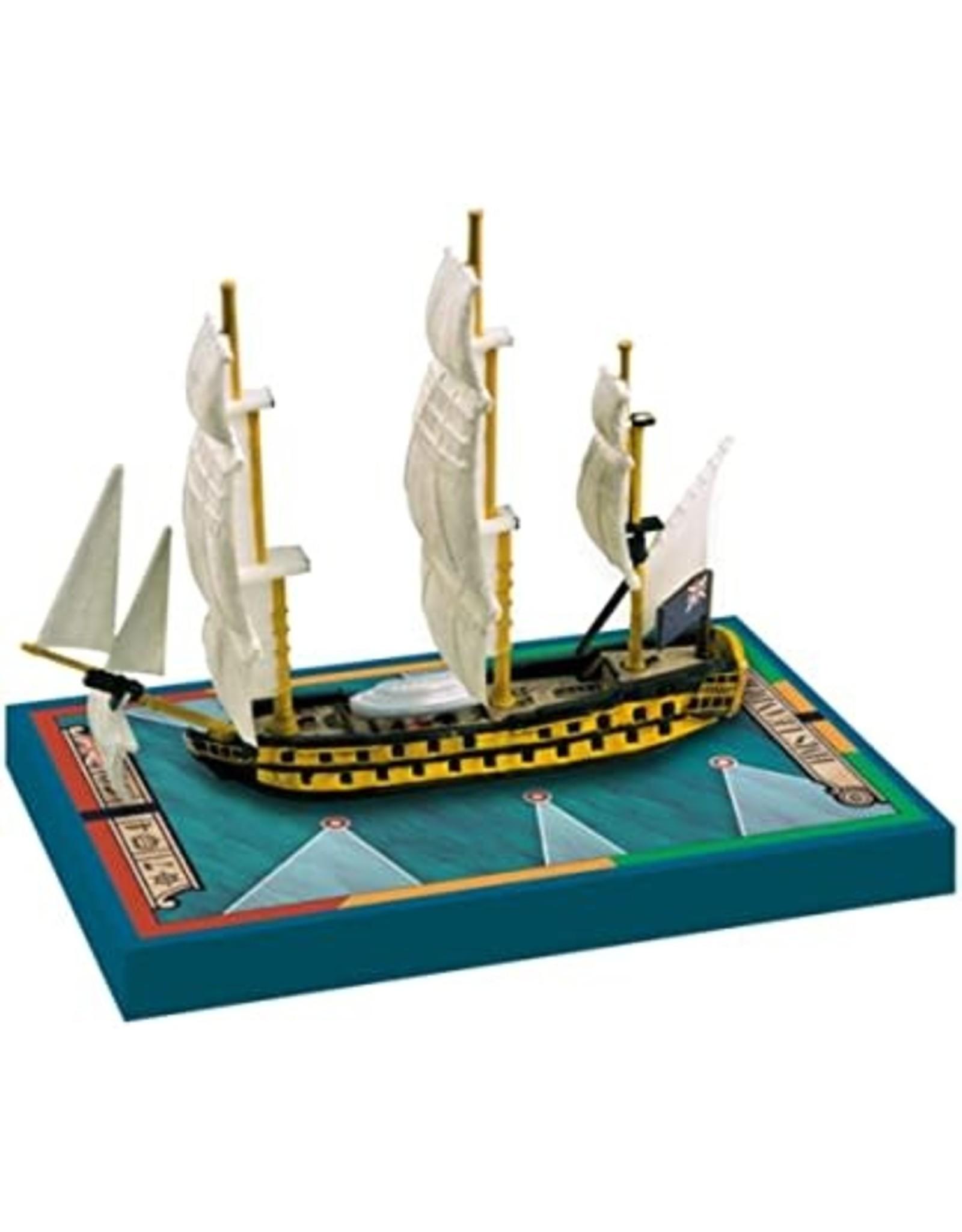 ARES GAMES SAILS OF GLORY HMS LEANDER 1780 HMS ADAMANT 1780 SHIP PACK