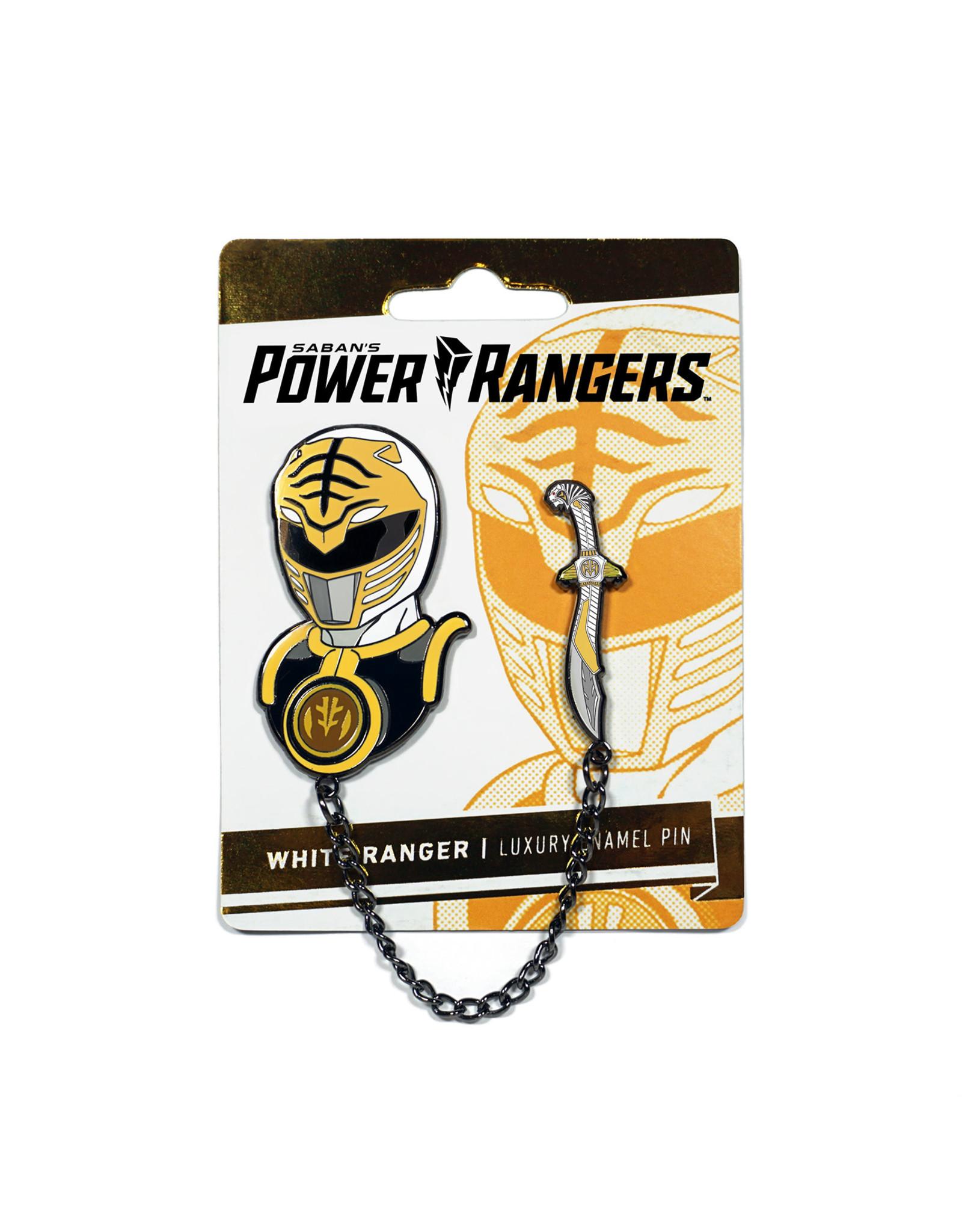 POWER RANGERS WHITE RANGER ENAMEL PIN