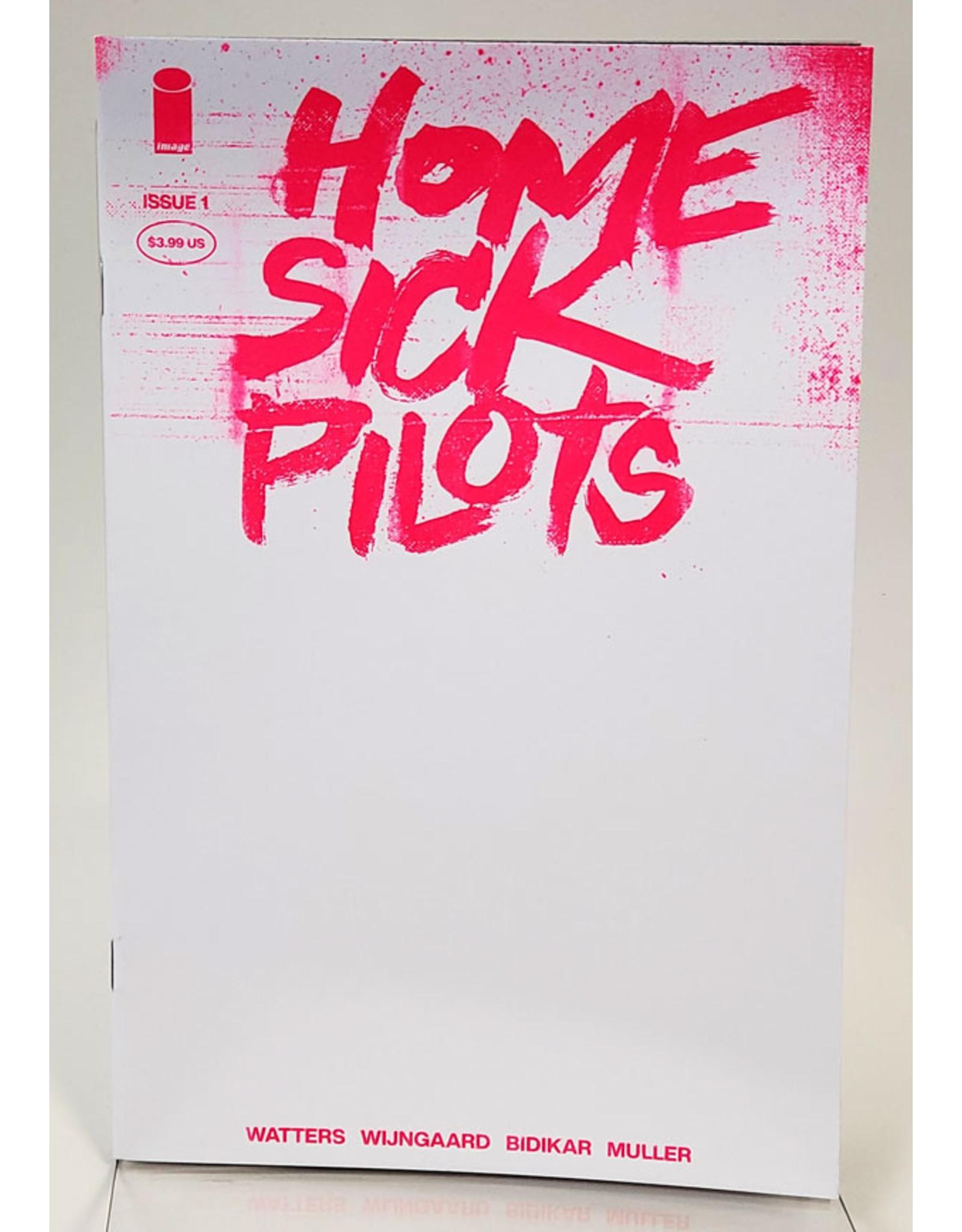 IMAGE COMICS HOME SICK PILOTS #1 1:25 PINK NEON BLANK VAR