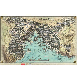 WIZARDS OF THE COAST D&D 5E BALDUR'S GATE MAP