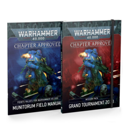 GAMES WORKSHOP WH 40K 9E CHAPTER APPROVED: GRAND TOURNAMENT 2020 MISSION PACK AND MUNITORUM FIELD MANUAL