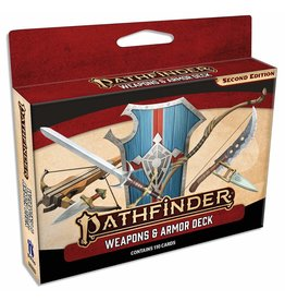 PAIZO PUBLISHING PATHFINDER RPG - SECOND EDITION: WEAPONS AND ARMOR DECK