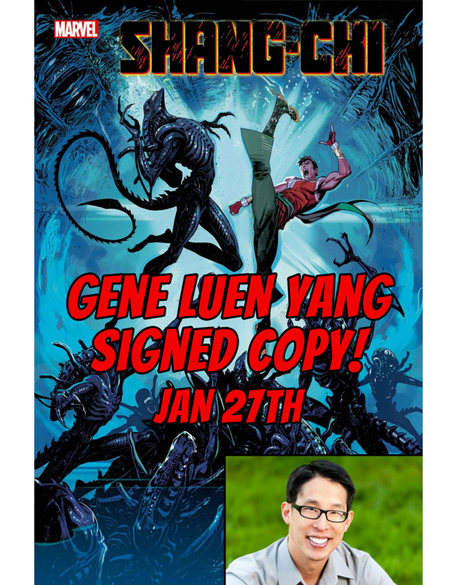 MARVEL COMICS AUTHOR SIGNED SHANG-CHI #5 (OF 5) COELLO MARVEL VS ALIEN VAR PRE-ORDER