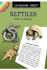 DOVER PUBLICATIONS LEARNING ABOUT REPTILES STICKER BOOK