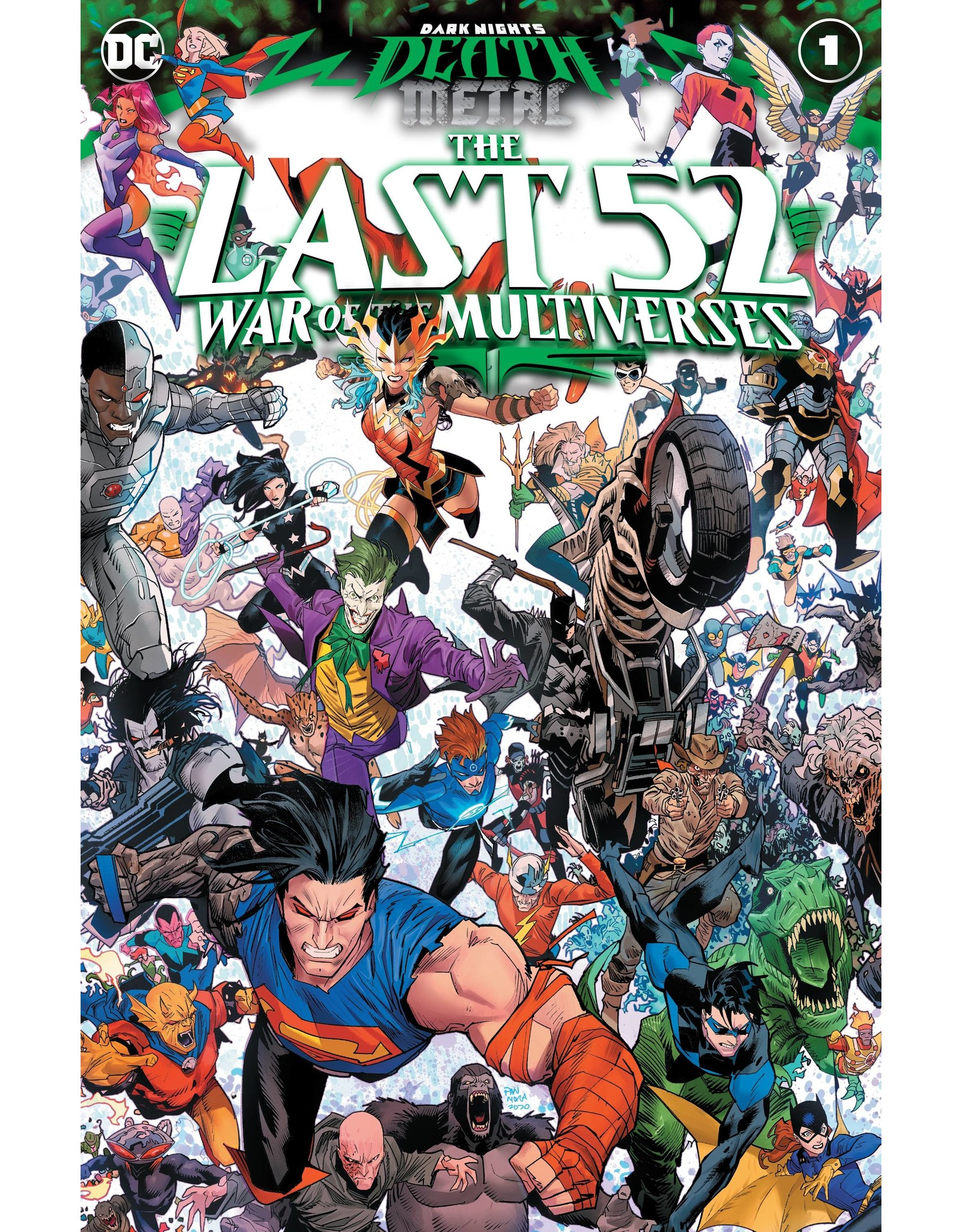 DC COMICS DARK NIGHTS DEATH METAL THE LAST 52 WAR OF THE MULTIVERSES #1 (ONE SHOT) CVR A DAN MORA