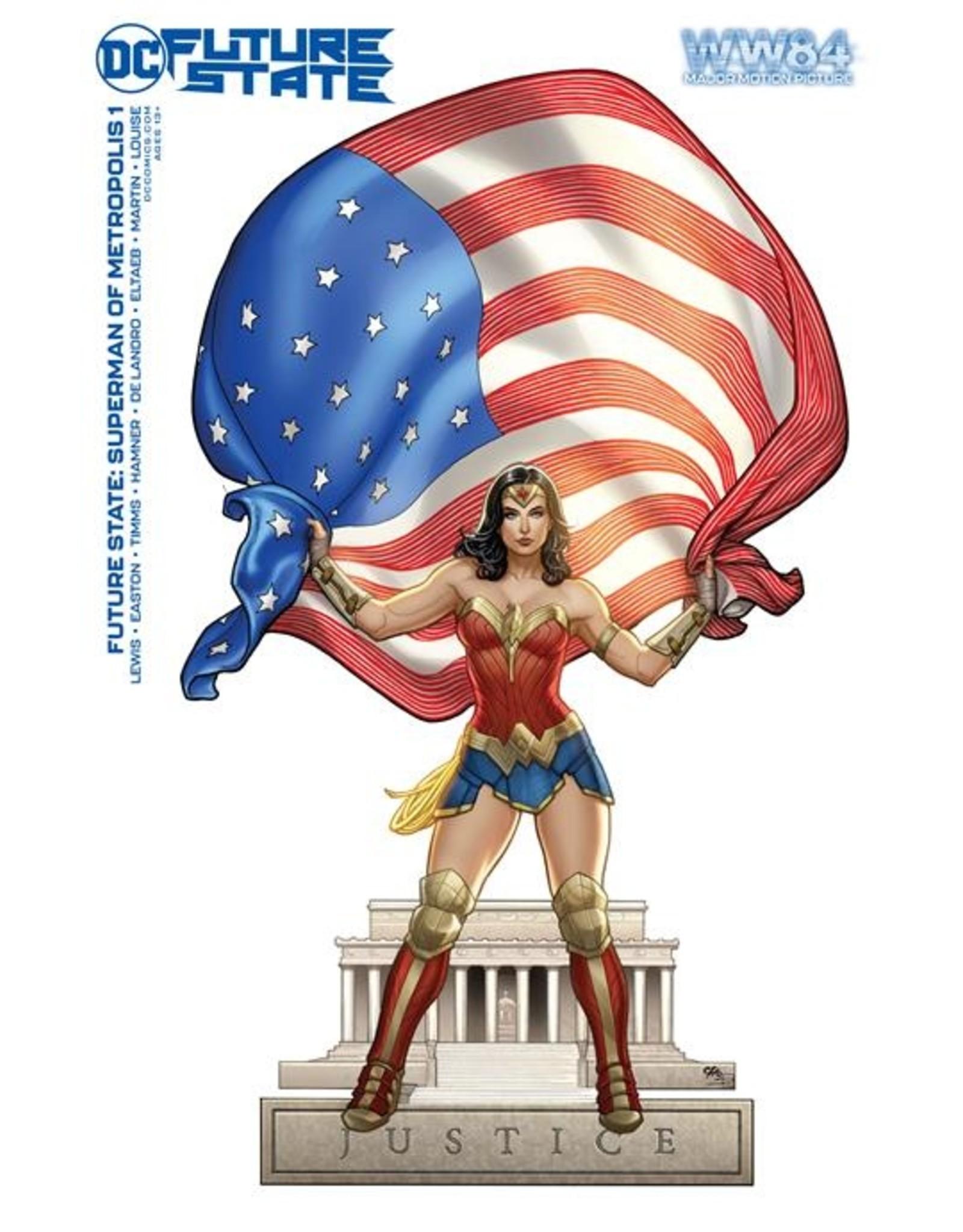 DC COMICS FUTURE STATE SUPERMAN OF METROPOLIS #1 (OF 2) CVR D WONDER WOMAN 1984 FRANK CHO CARD STOCK VAR
