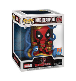 FUNKO POP DELUXE MARVEL HEROES KING DEADPOOL ON THRONE PX VIN FIG