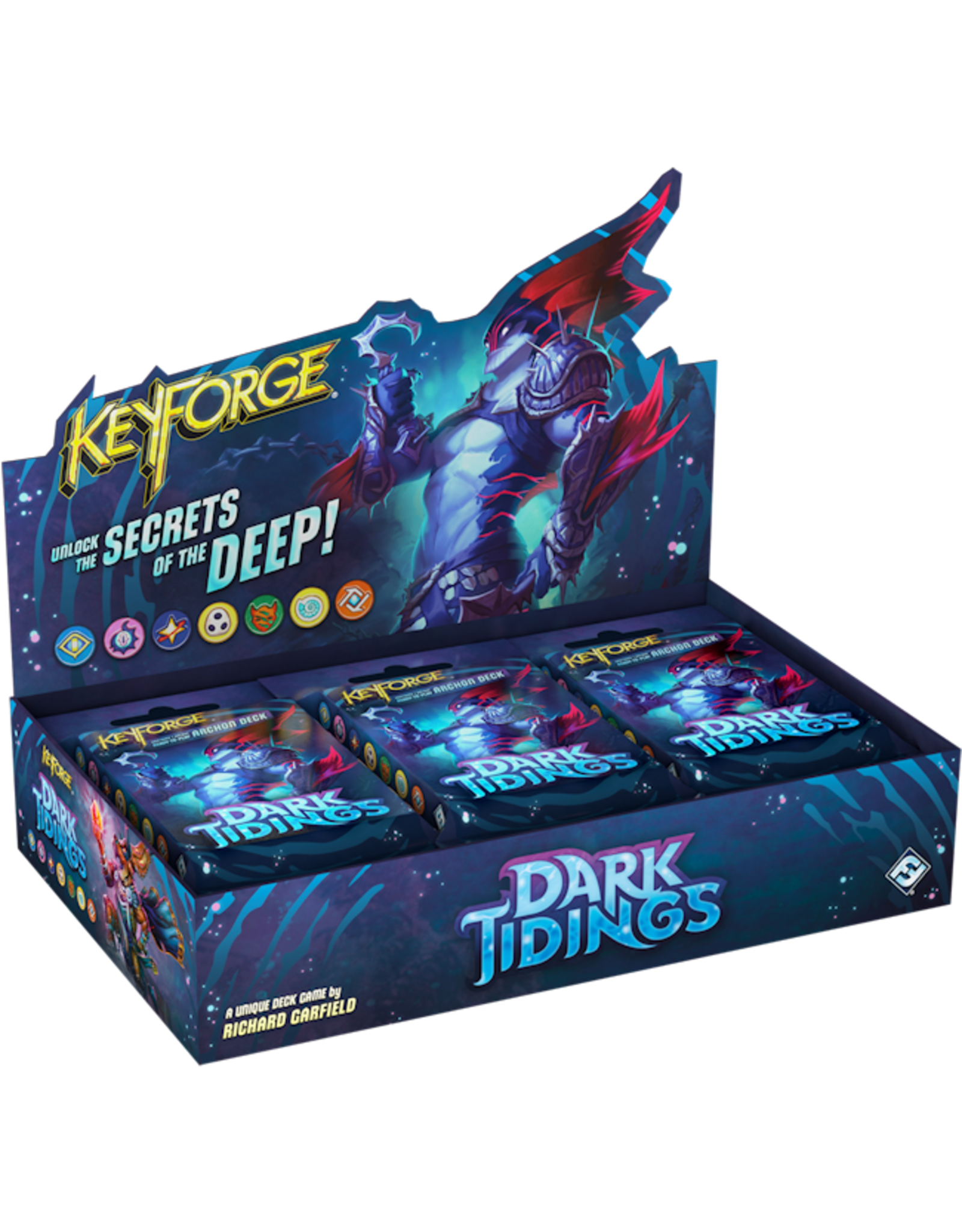 FANTASY FLIGHT GAMES KEYFORGE DARK TIDINGS ARCHON DECK DISPLAY BOX PRE-ORDER