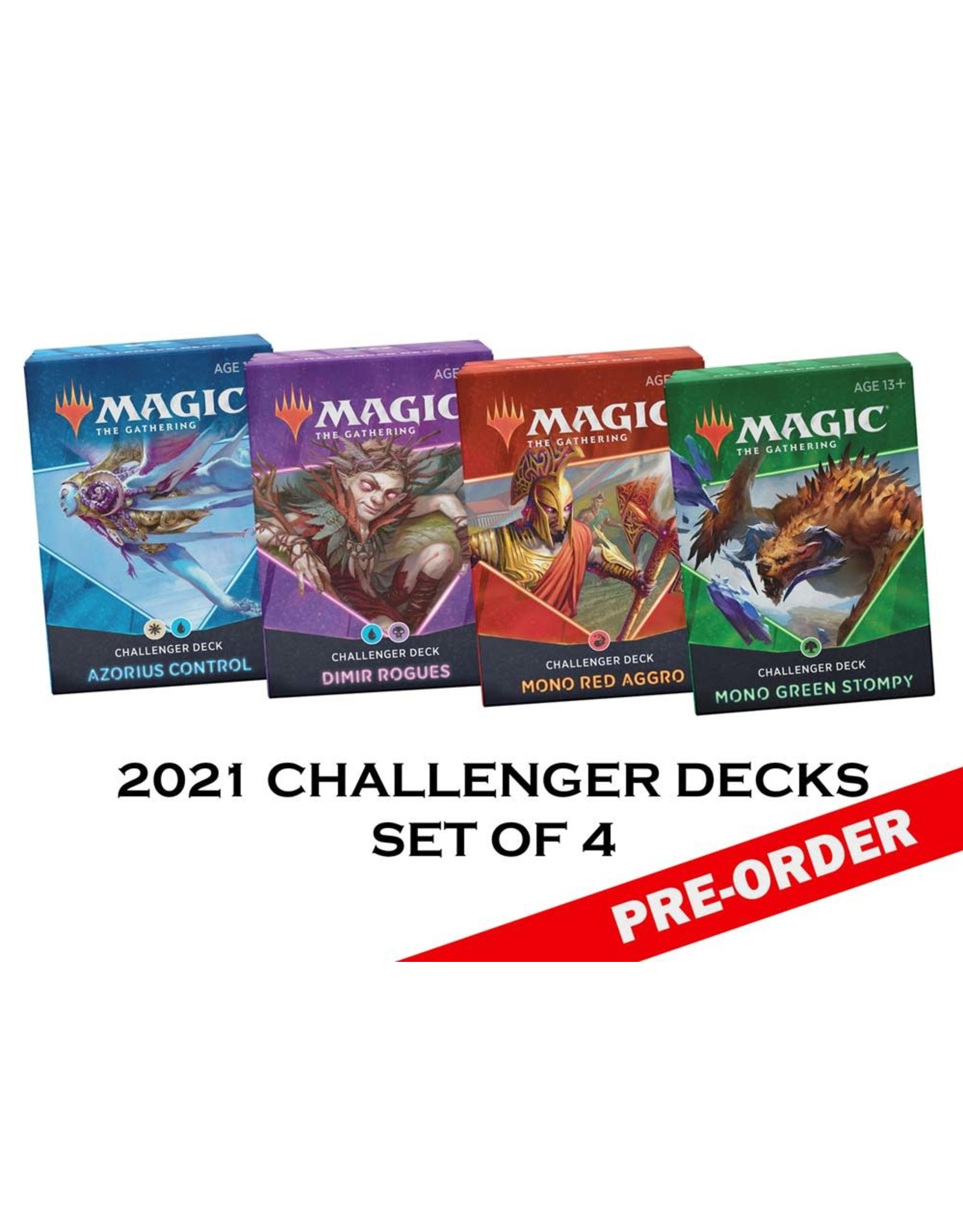 WIZARDS OF THE COAST MAGIC THE GATHERING CHALLENGER DECKS 2021 SET OF 4 PRE-ORDER