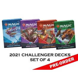 WIZARDS OF THE COAST MTG CHALLENGER DECKS 2021 SET OF 4 PRE-ORDER