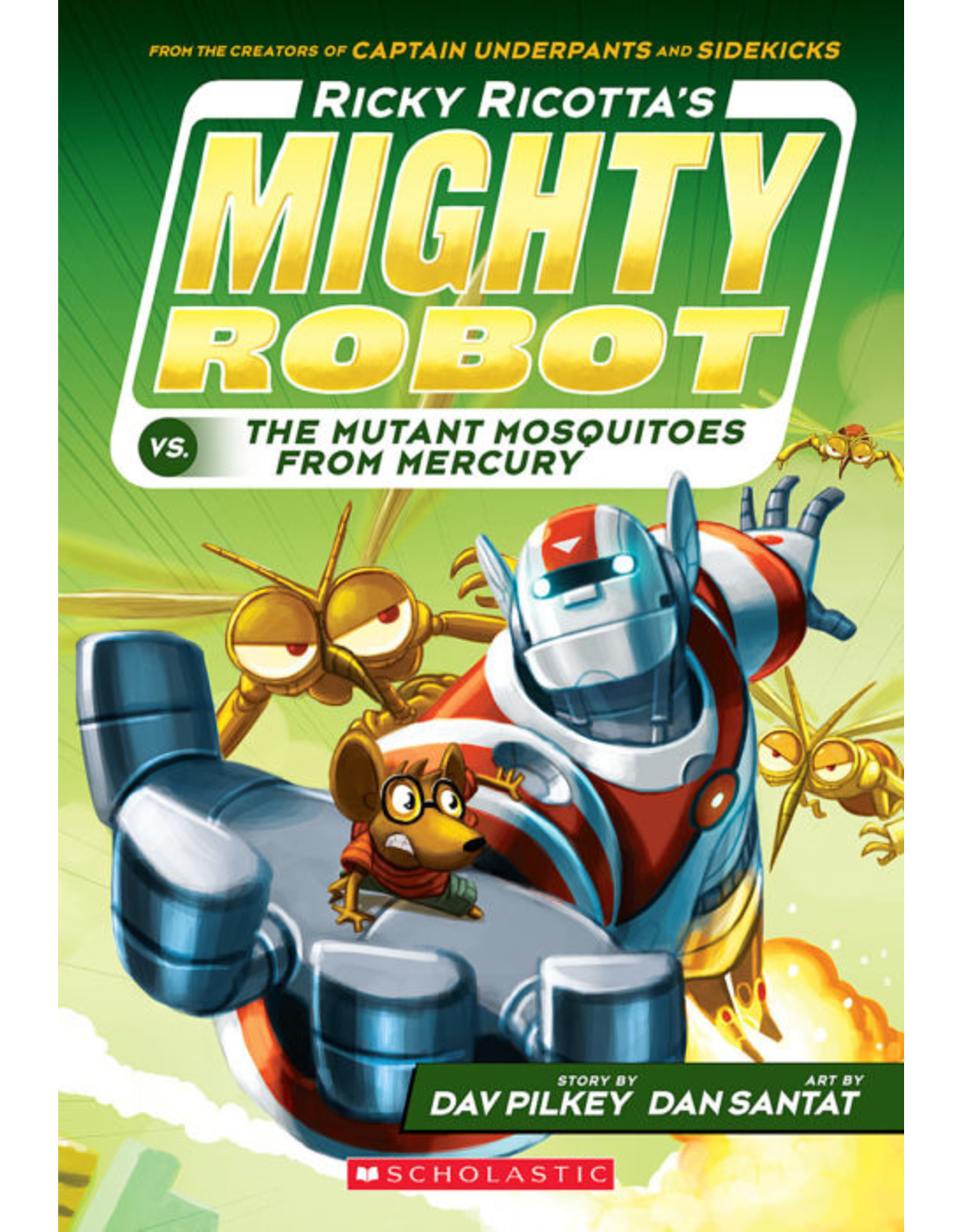 SCHOLASTIC INC. RICKY RICOTTAS MIGHTY ROBOT TP VOL 02 VS THE MUTANT MOSQUITOES FROM MERCURY
