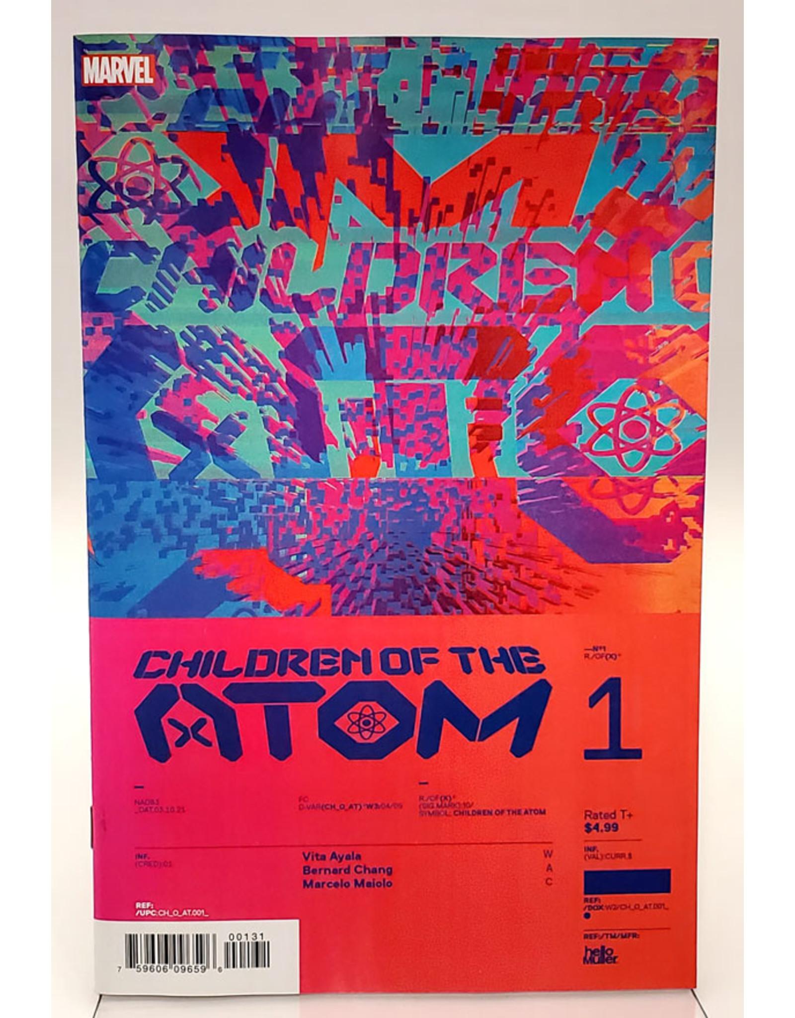 MARVEL COMICS CHILDREN OF ATOM #1 1:10 MULLER DESIGN VAR