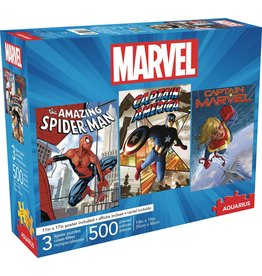 MARVEL 500 PIECE 3 IN 1 PUZZLES