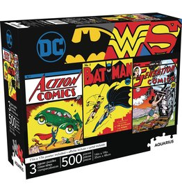 DC COMICS 500 PIECE 3 IN 1 PUZZLE